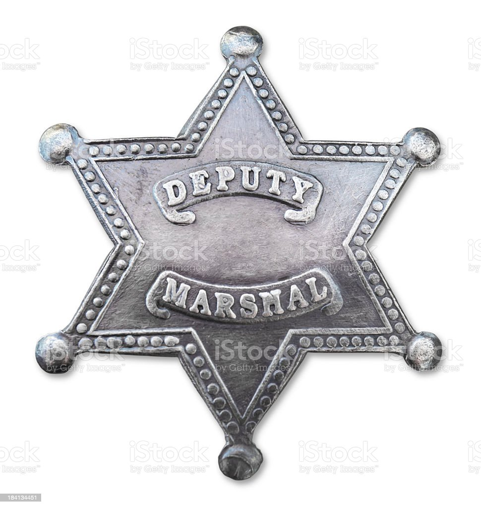 Vintage deputy marshal star badge stock photo