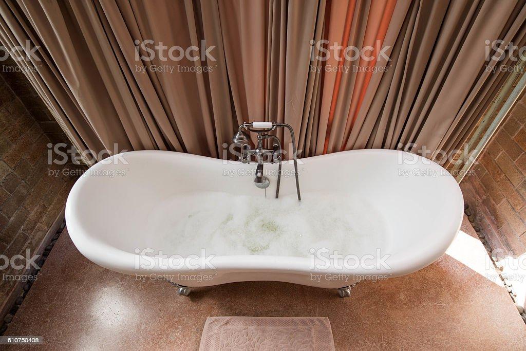 Vintage design of bathtub stock photo