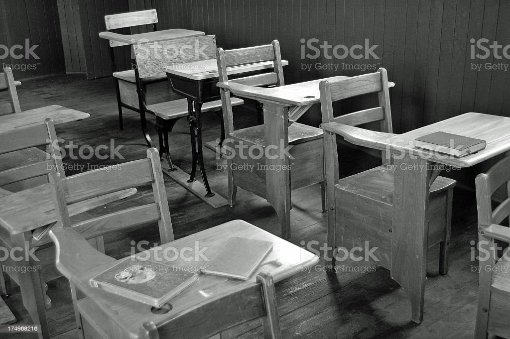 Vintage  Desks in Black and White royalty-free stock photo
