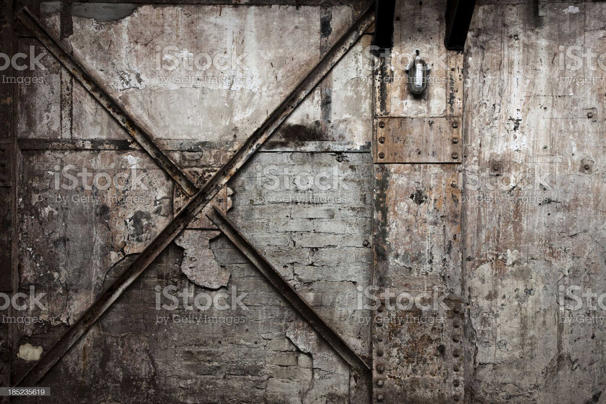 Vintage Destroyed Brick Wall Background royalty-free stock photo