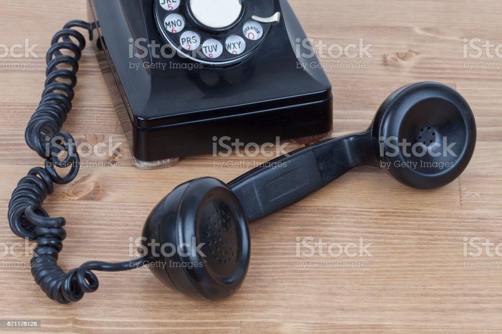 Vintage Dial Telephone stock photo