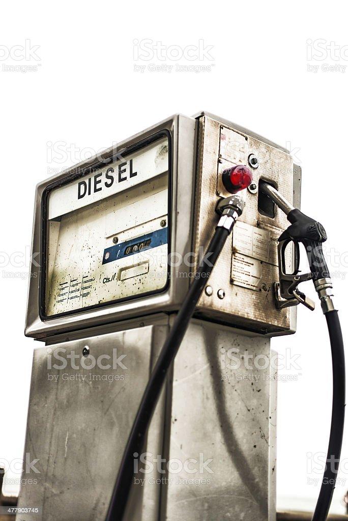 Vintage diesel gasoline petrol station pump royalty-free stock photo