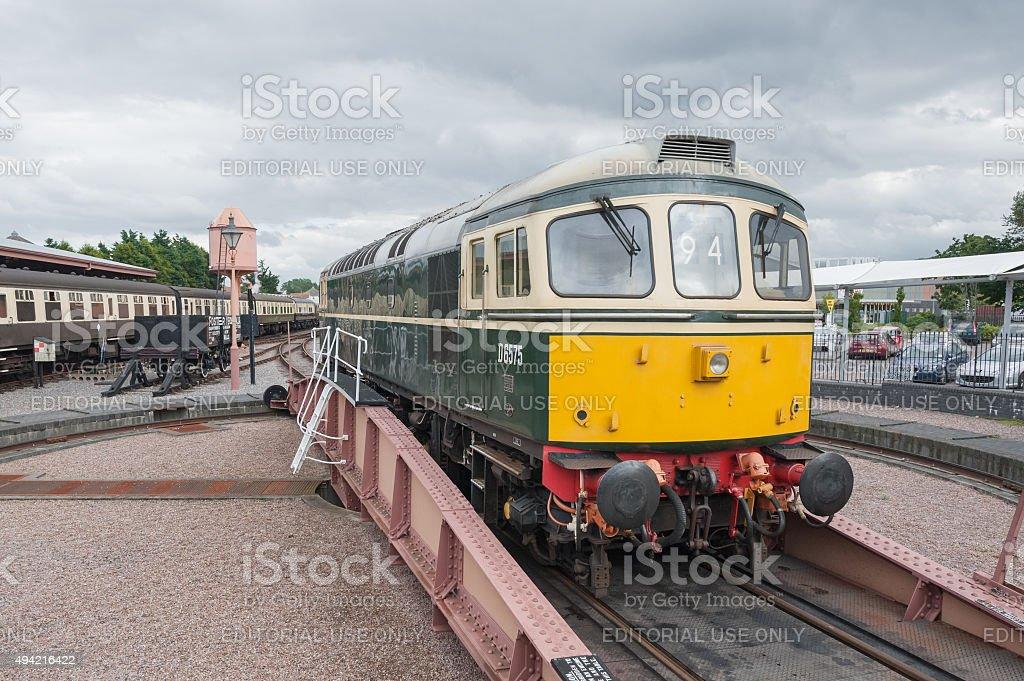 vintage diesel locomotive stock photo