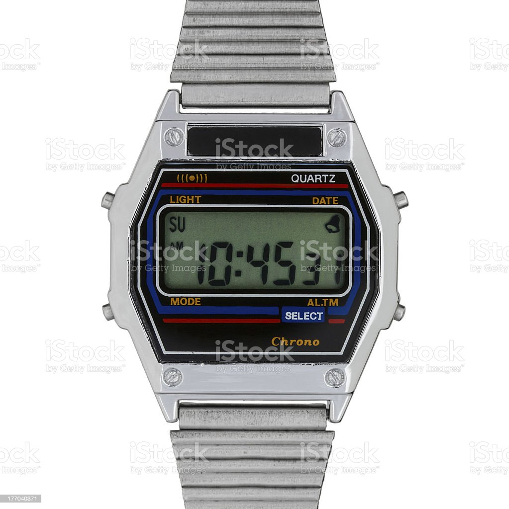 Vintage digital watch royalty-free stock photo