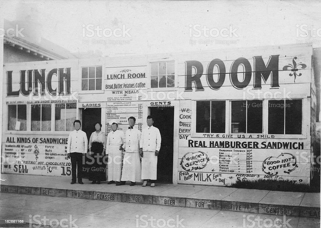 VIntage Diner Exterior stock photo