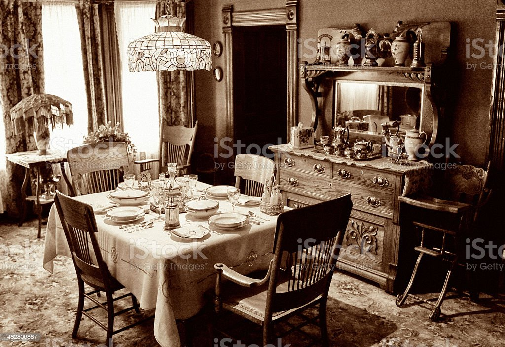 Vintage Dining Room royalty-free stock photo