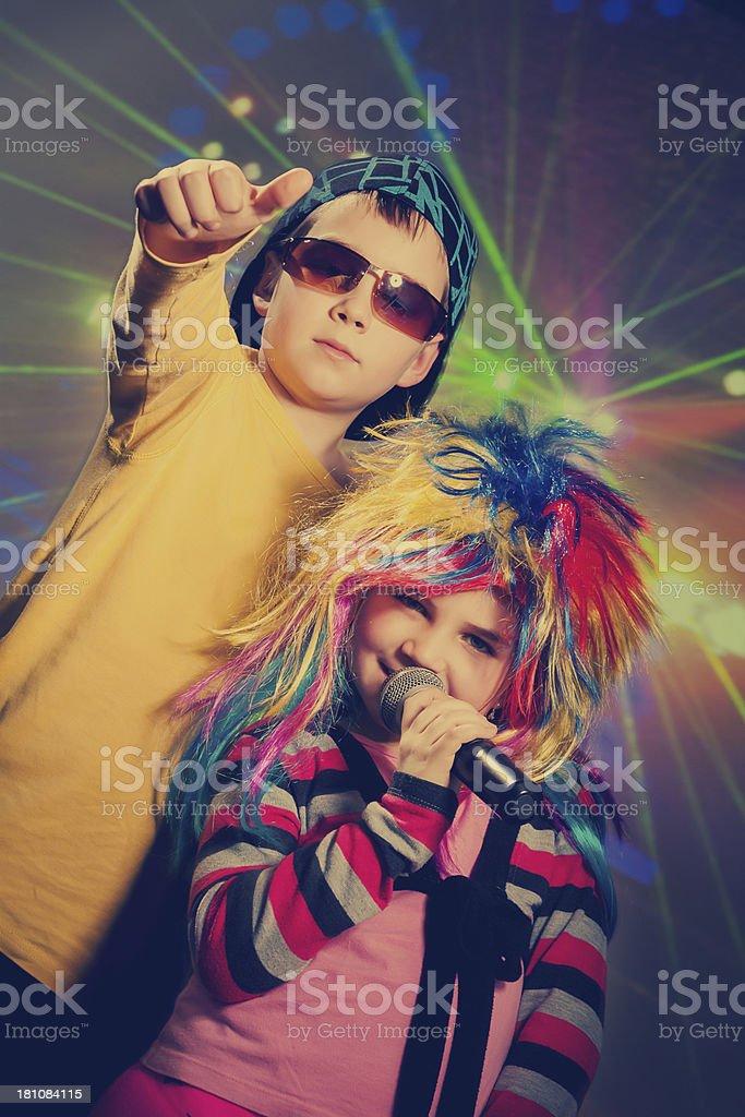 Vintage disco children royalty-free stock photo