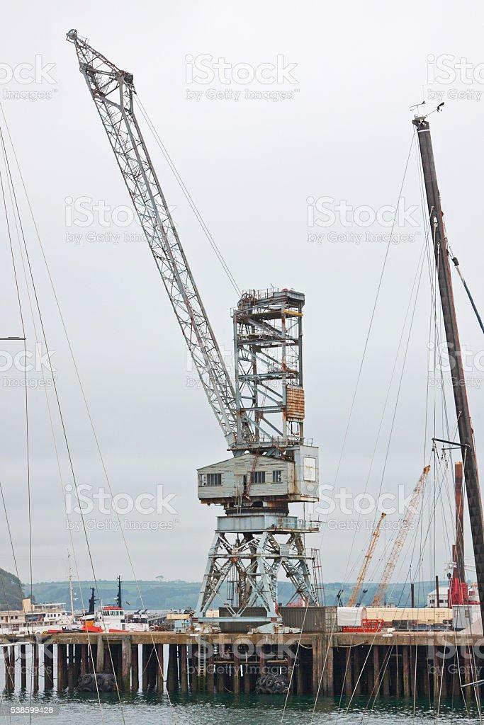 Vintage dock crane UK stock photo