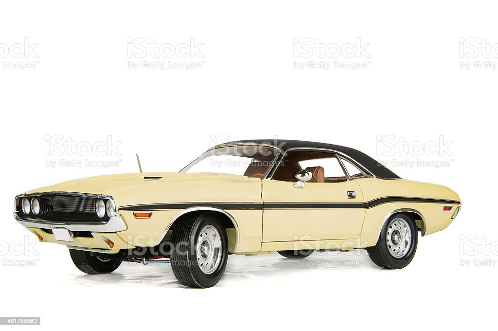 Vintage dodge challenger car 1970 stock photo