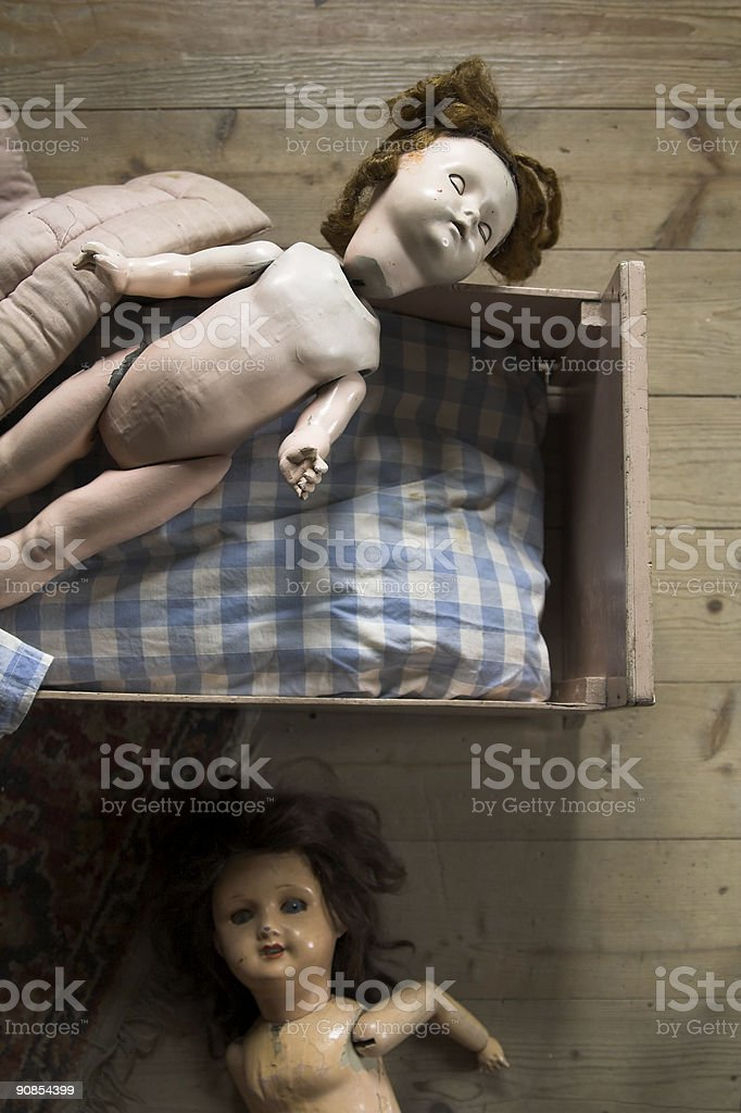 Vintage Dolls royalty-free stock photo