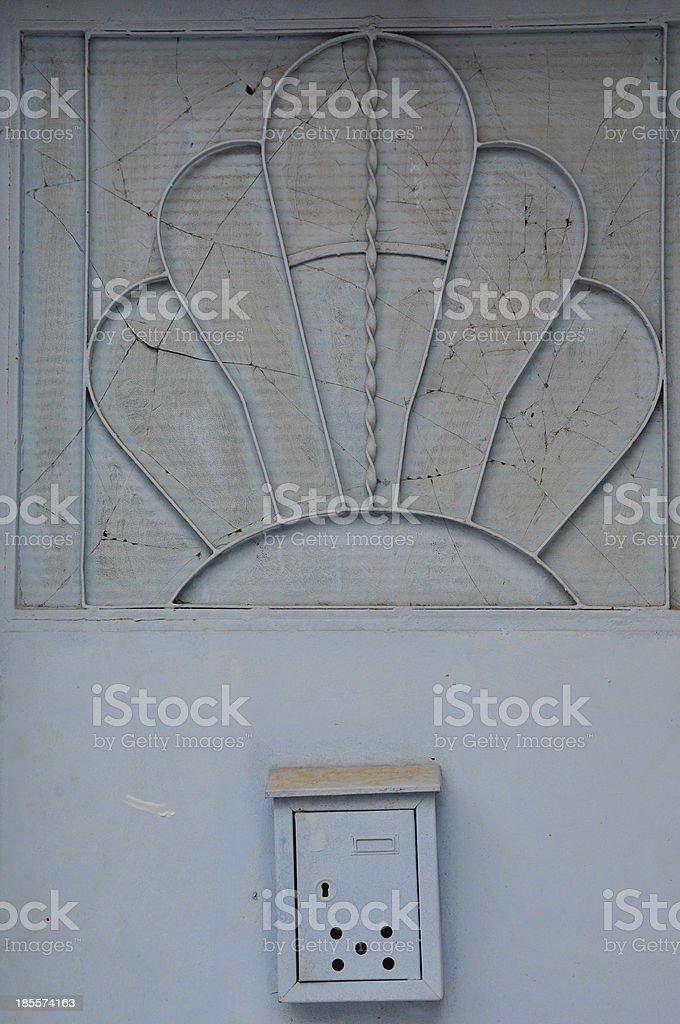vintage door abstract sun pattern royalty-free stock photo
