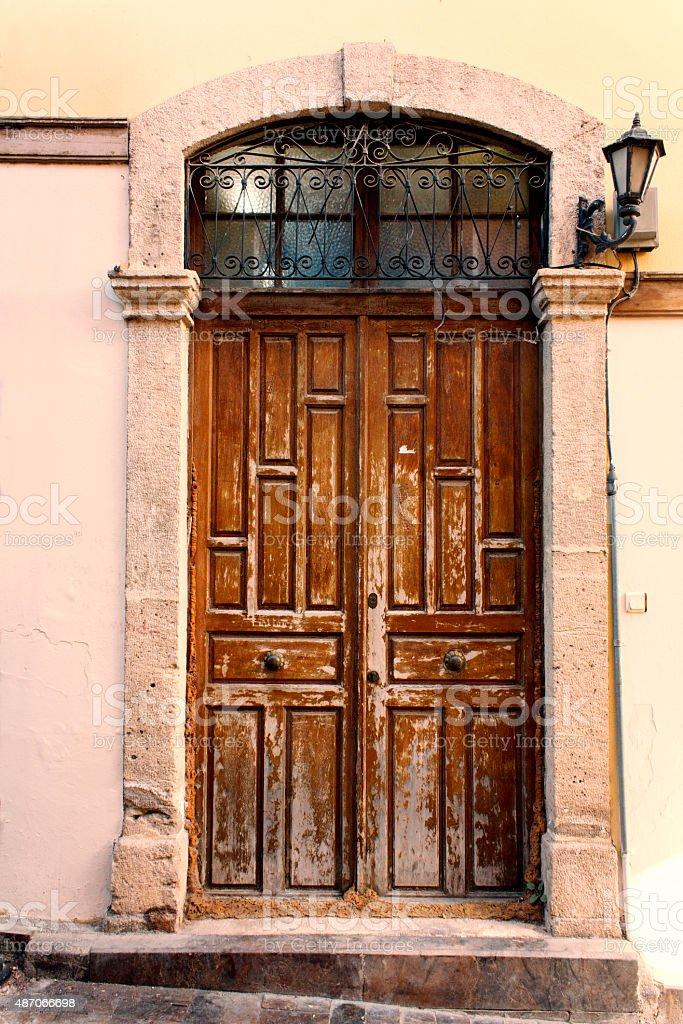 vintage door, architecture of building exterior stock photo