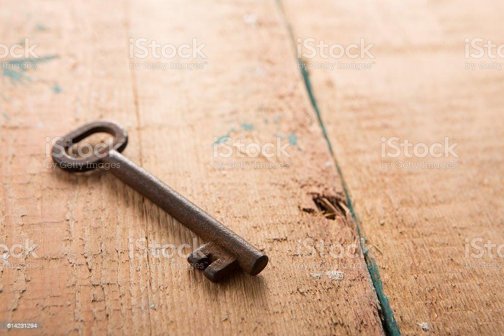 vintage door key stock photo