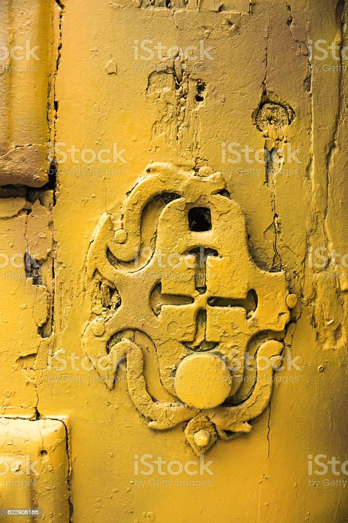 Vintage door lock royalty-free stock photo