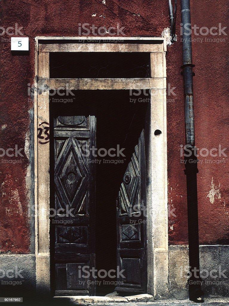 vintage door stock photo