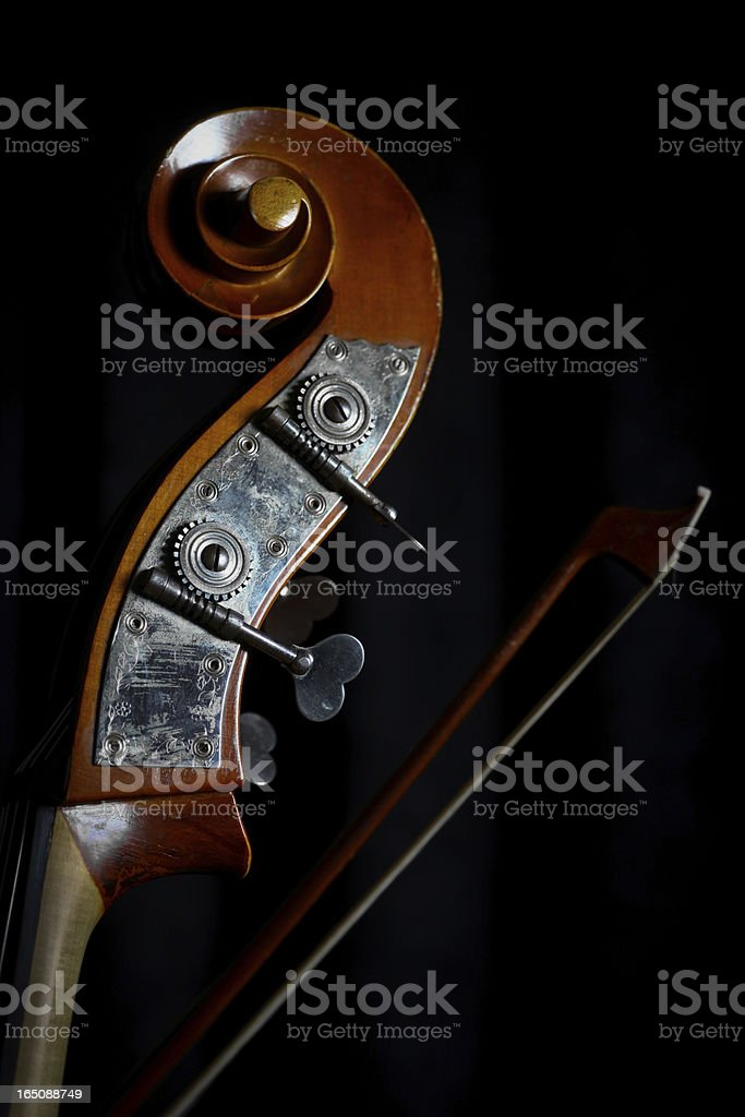 Vintage double bass royalty-free stock photo