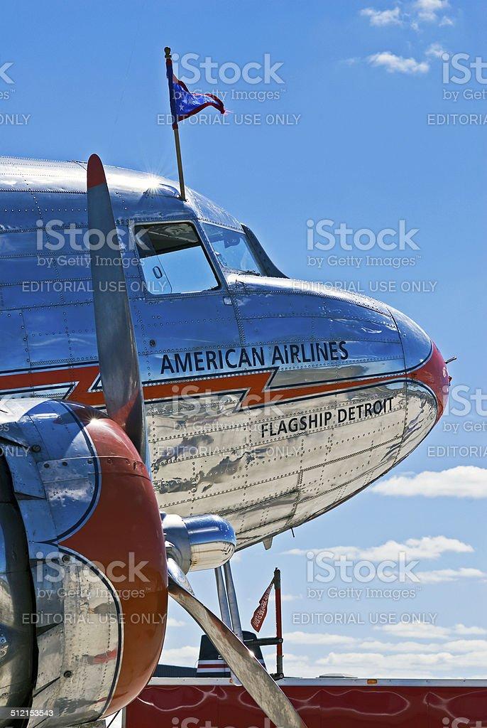 Vintage Douglas DC-3 Airplane stock photo