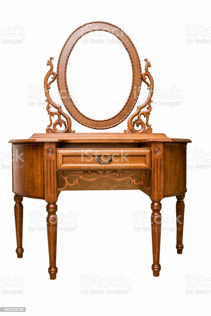 Vintage dressing table stock photo