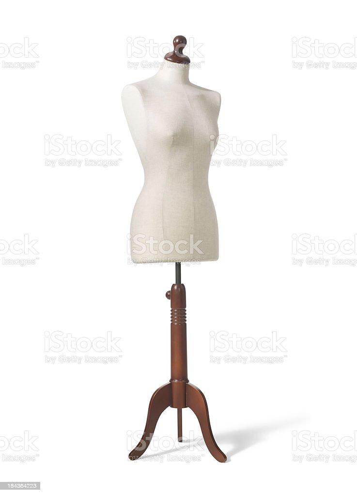 Vintage Dressmaker Form stock photo
