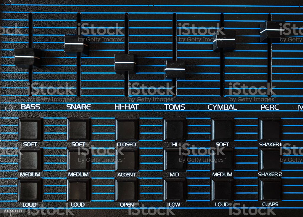 Vintage drum machine. stock photo