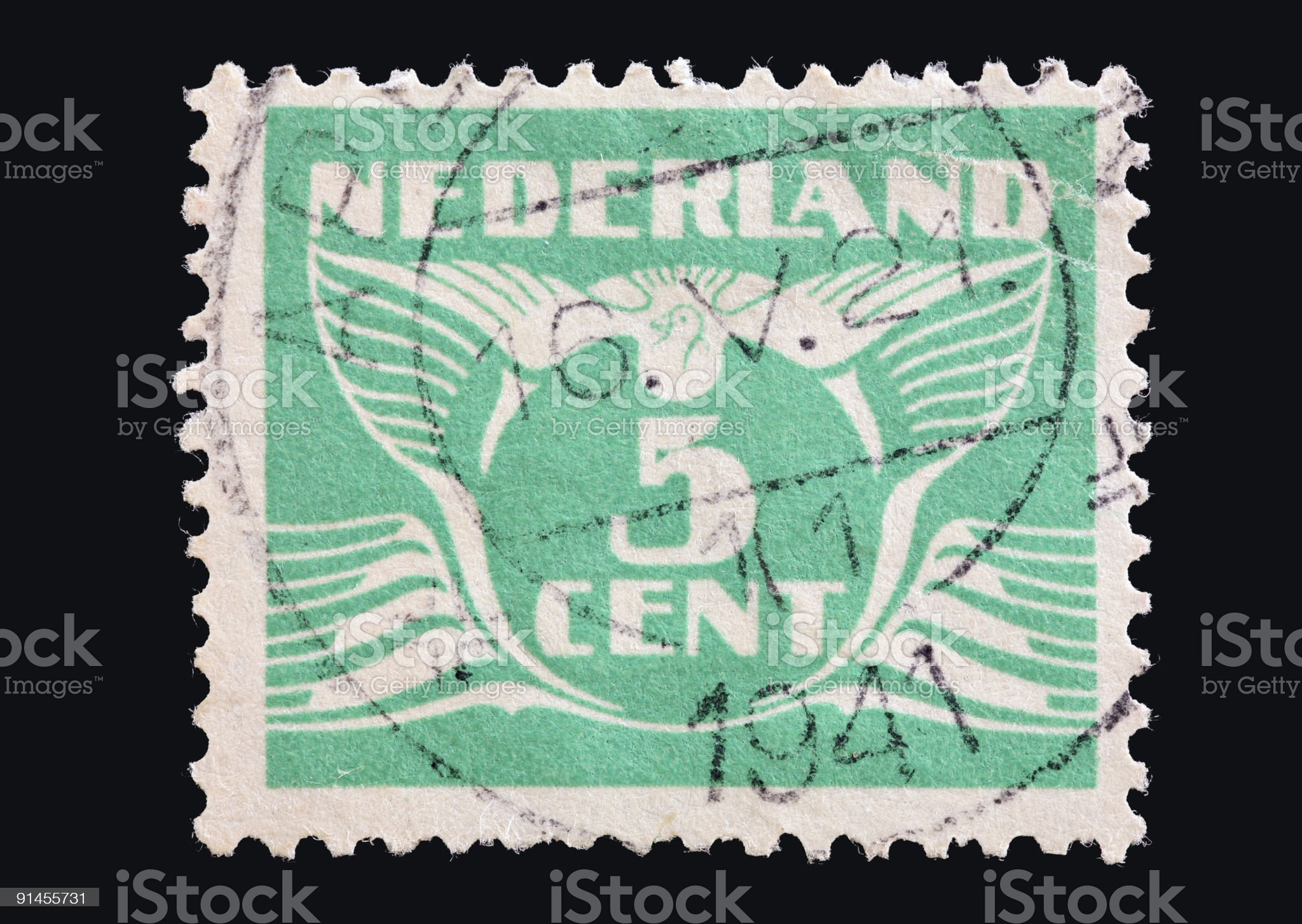 Vintage Dutch stamp  (XL) royalty-free stock photo
