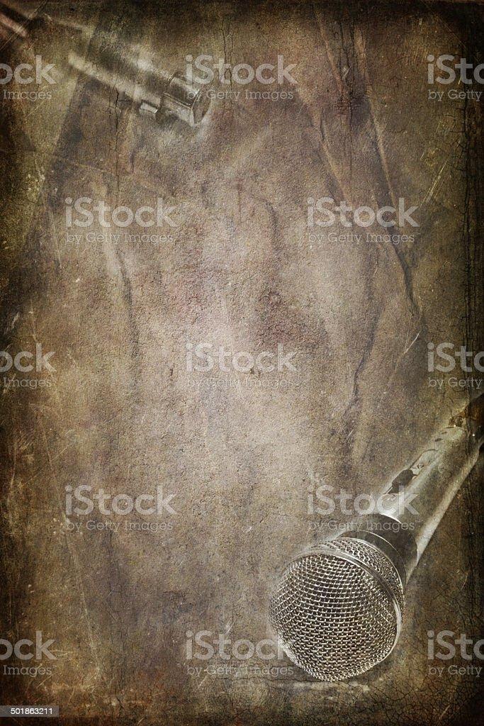Винтажный Динамический микрофон Стоковые фото Стоковая фотография