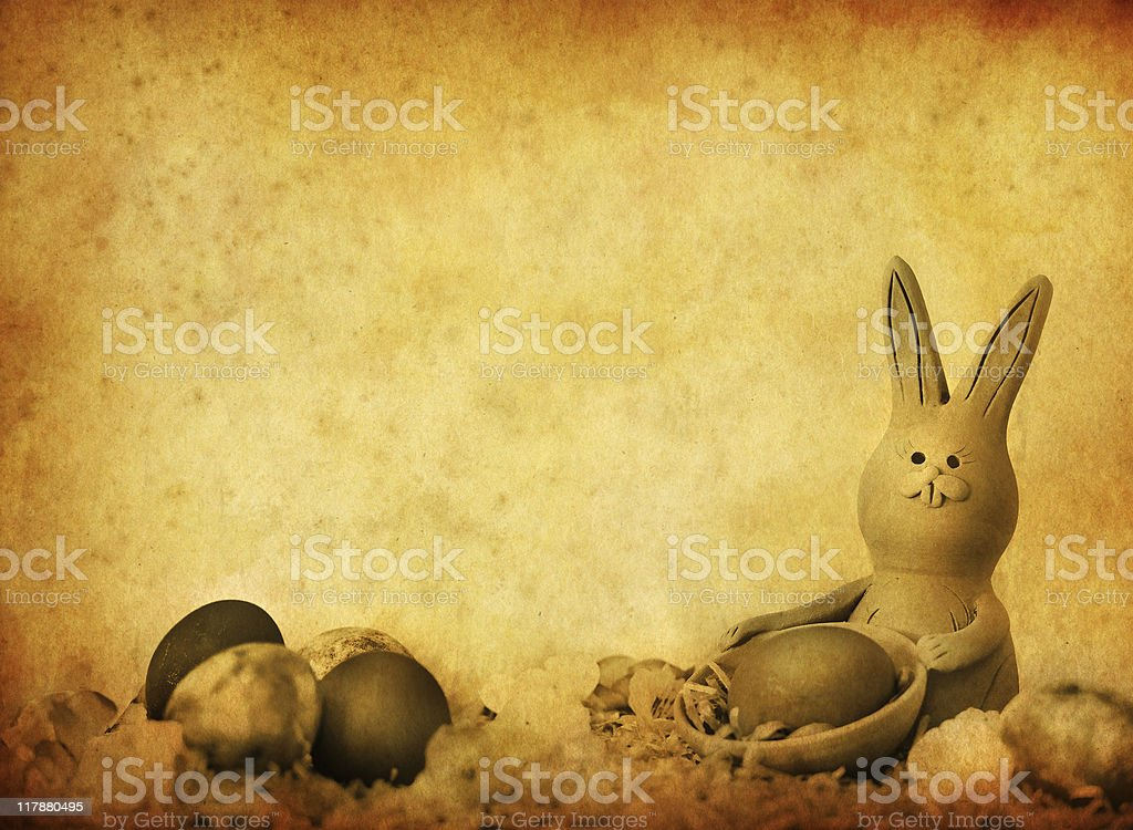 vintage easter bunny royalty-free stock photo