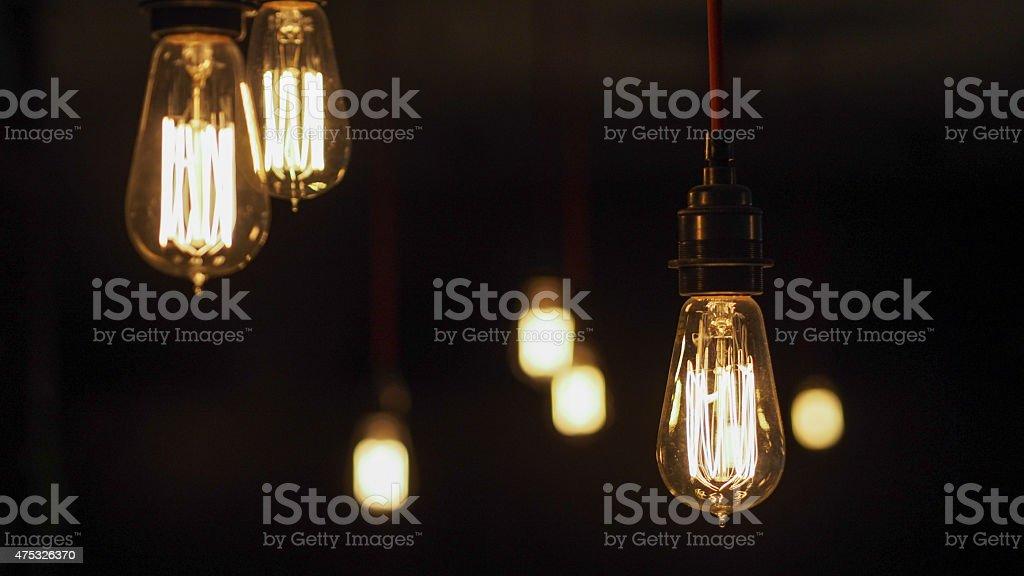 Vintage Edison Light Bulbs stock photo