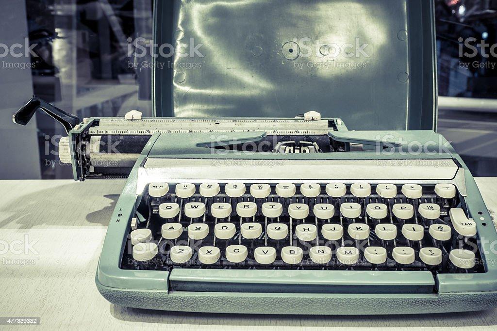 Vintage effect classic typewriter stock photo