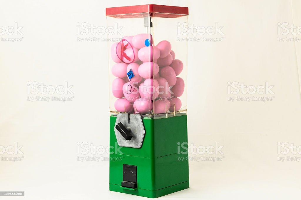 Vintage Eggs Slot Machine royalty-free stock photo