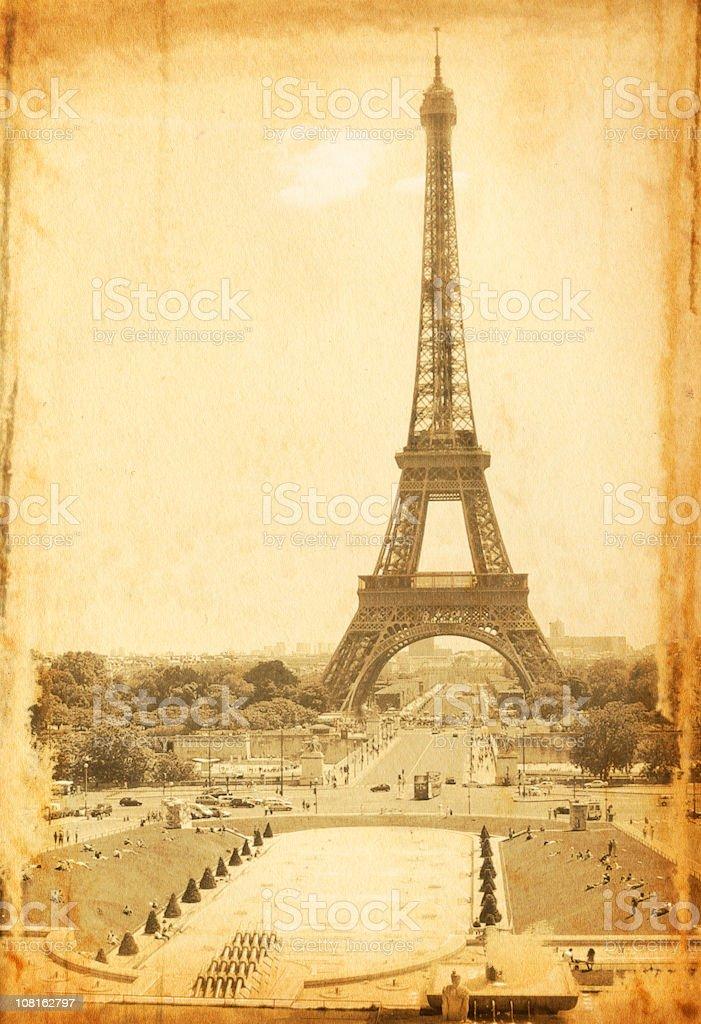 Vintage Eiffel Tower Photo royalty-free stock photo