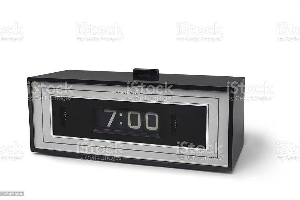 Vintage electric alarm clock royalty-free stock photo