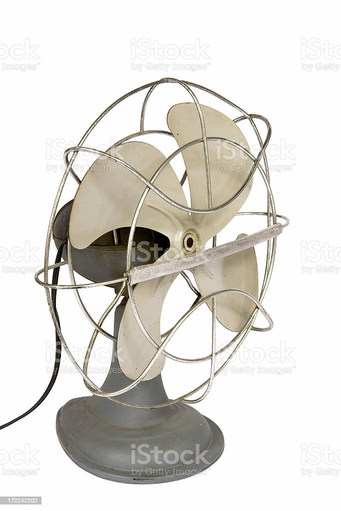 Vintage electric fan royalty-free stock photo