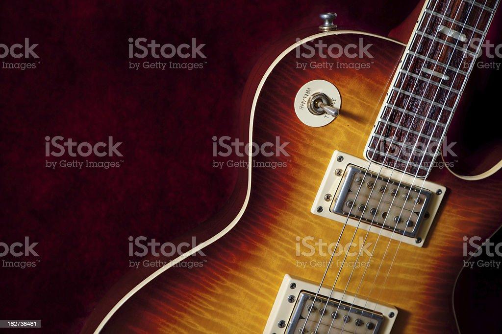 Vintage Electric Guitar stock photo
