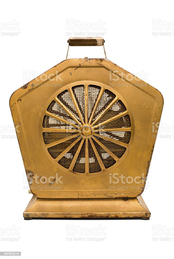 Vintage Electric Heater, With White Background royalty-free stock photo