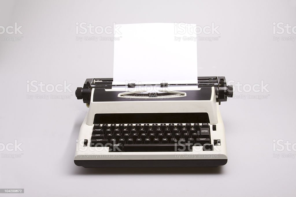 Vintage Electric Typewriter royalty-free stock photo