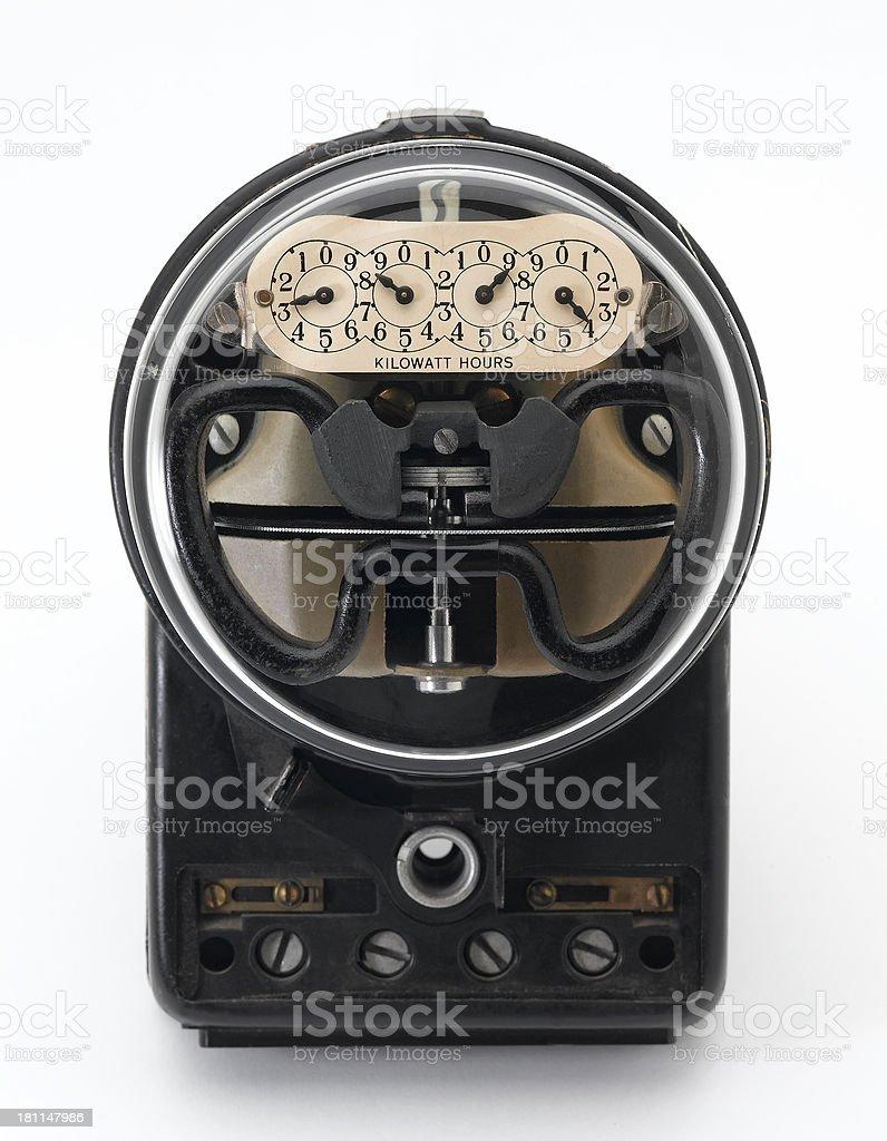 Vintage Electrical Meter royalty-free stock photo