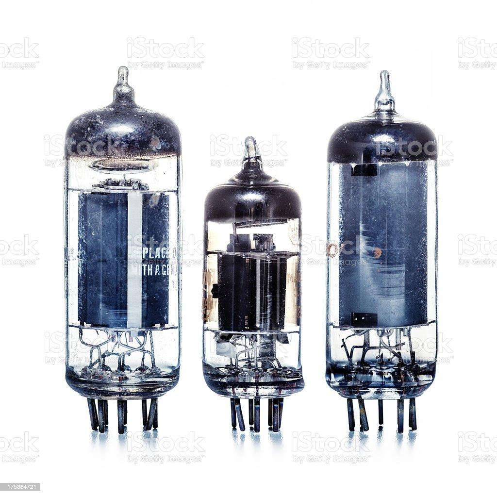 Vintage electronic vacuum tube royalty-free stock photo