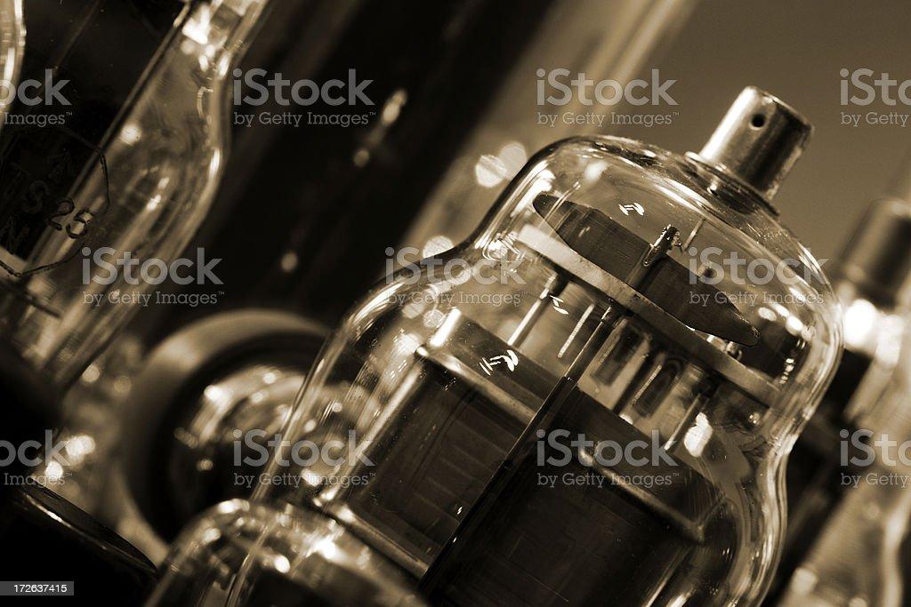 Vintage electronic valves stock photo