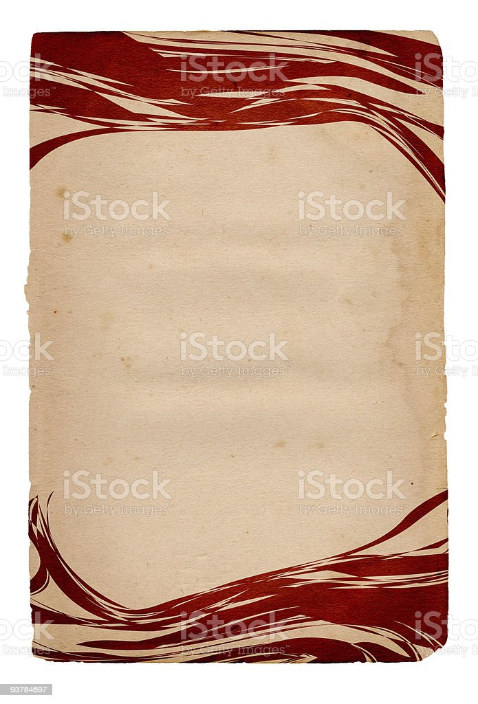 Vintage Element Paper stock photo