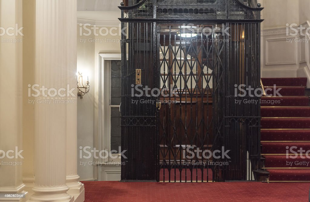 Vintage Elevator stock photo