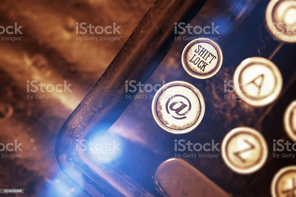 Vintage Email Typer Concept stock photo