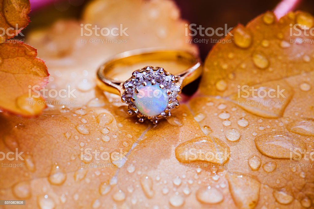 Vintage Engagement Ring stock photo