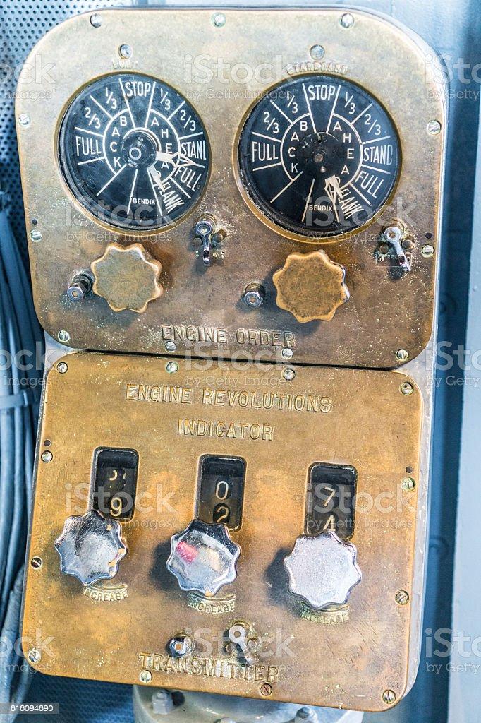 Vintage engine controller stock photo