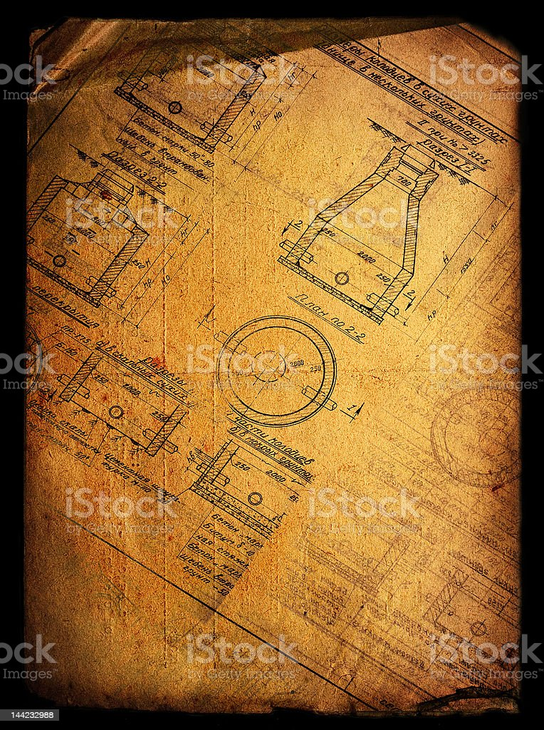 Vintage engineering royalty-free stock photo