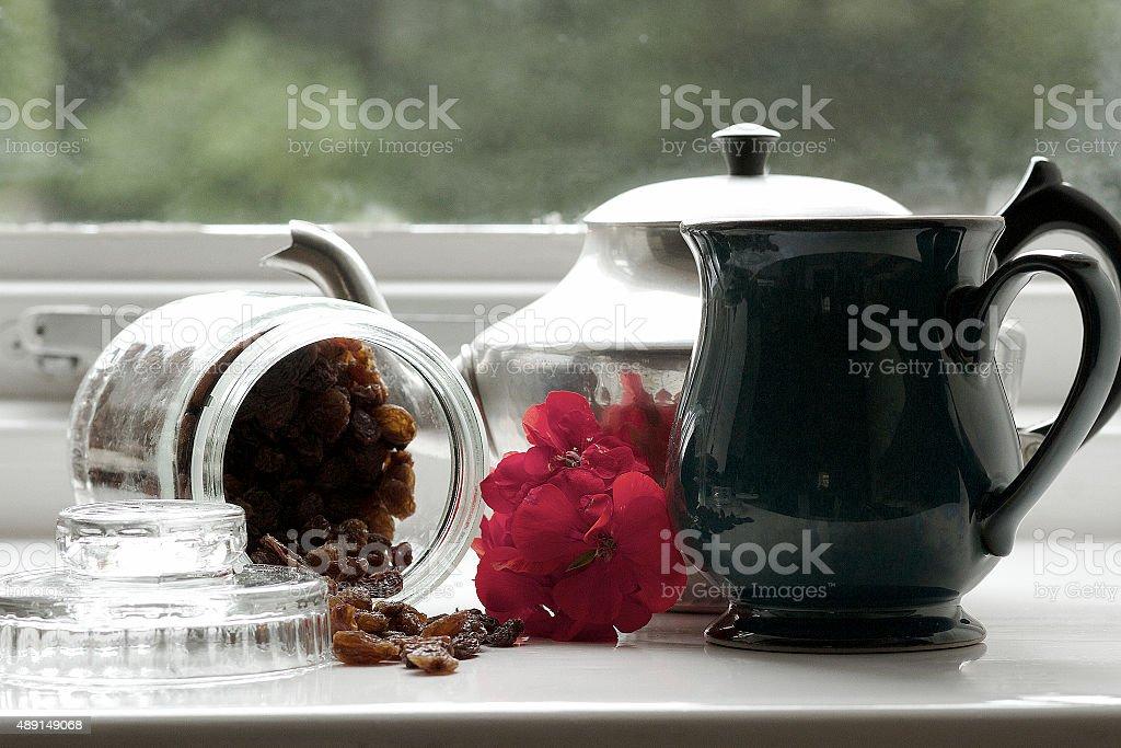 Vintage tè inglese e snack foto stock royalty-free
