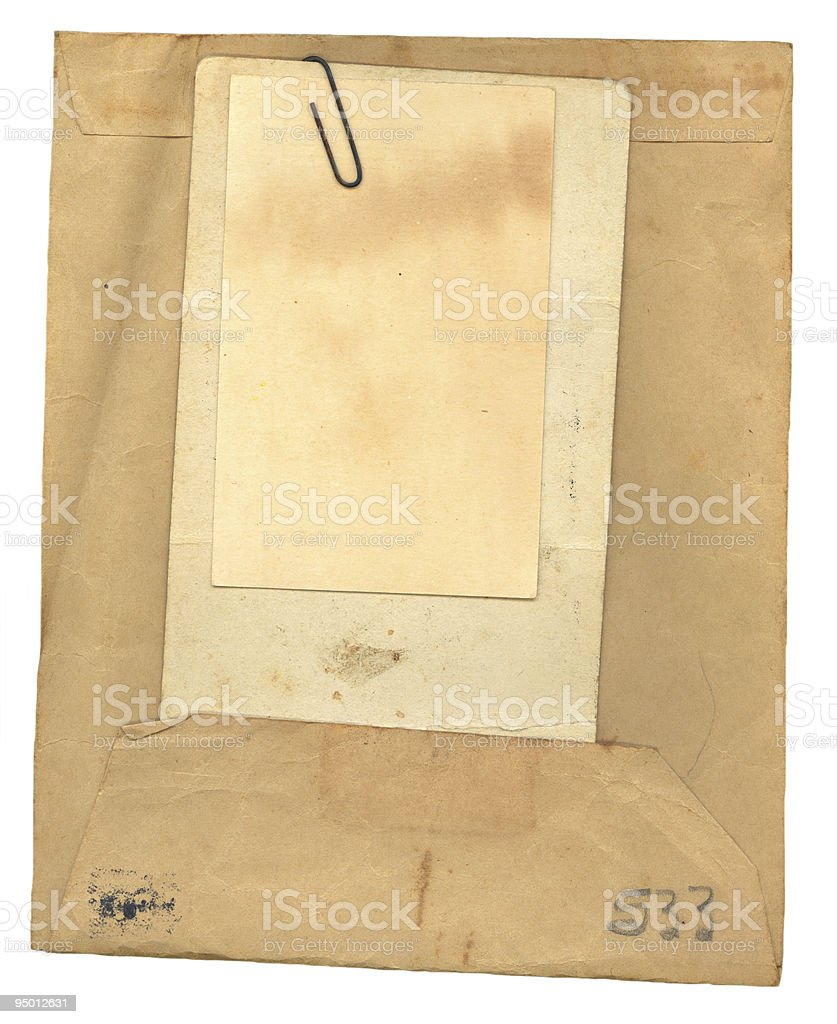 Vintage Envelope and Papers royalty-free stock photo