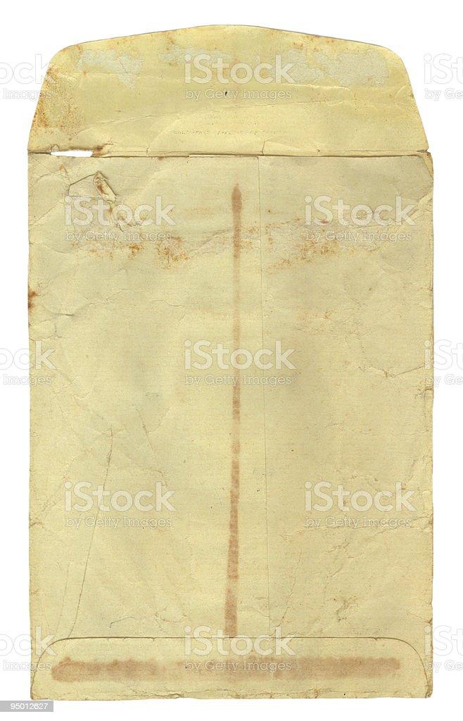 Vintage Envelope Opened stock photo