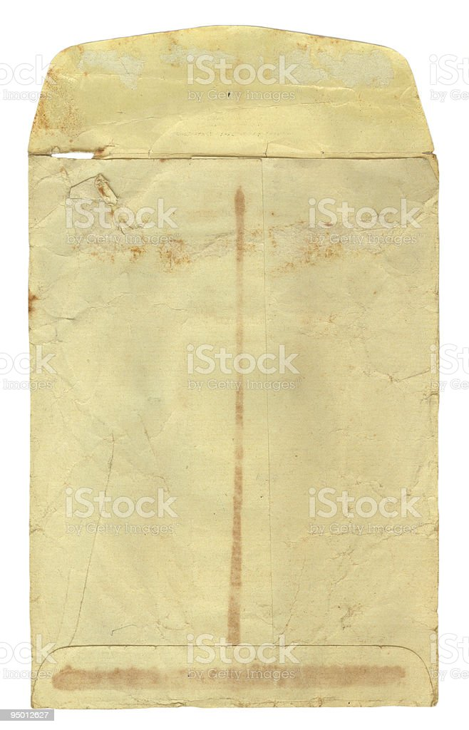 Vintage Envelope Opened stock photo