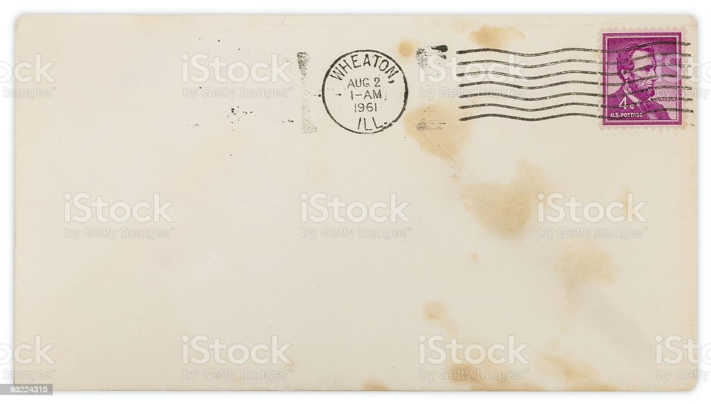 Vintage Envelope with clipping path royalty-free stock photo